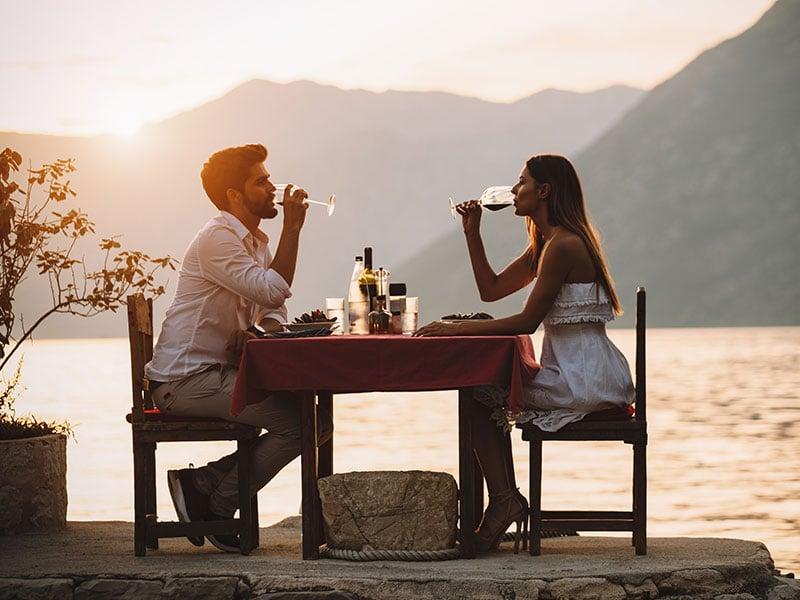 Romantische Dinner zu zweit