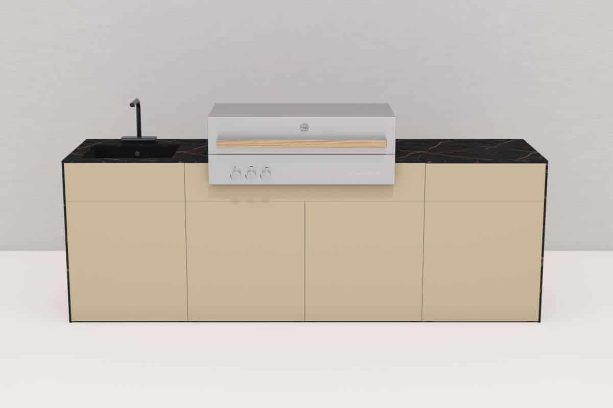 PURE Außenküche mit Spüle und Flammkraft Grill