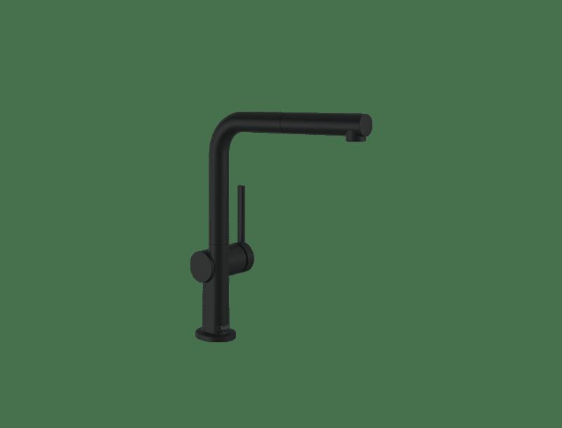 Außenküche Wasserhahn schwarz